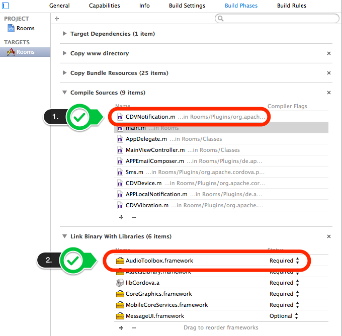 Fixing CDVPlugin class CDVNotification (pluginName: Notification) does not exist